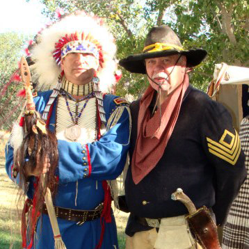 Role-players at Frontier History Encampment