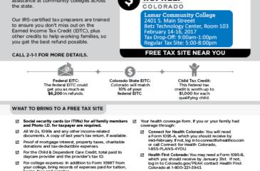 Tax Help CO flier 2017