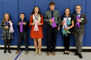 The Reserve and Grand Champion award winners (left to right) include Rayne Thomas (Springfield), Payson Coen (Alta Vista), Jami Quick (Springfield), Justin Write (Walsh), Emmalie Byrne (COVA), and Chase Cromwell (Lamar).