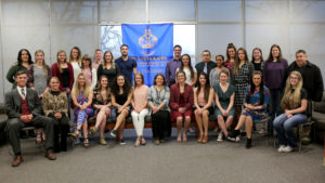LCC's new Phi Theta Kappa inductees and current chapter officers