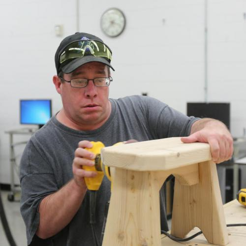 Carpentry step stool project