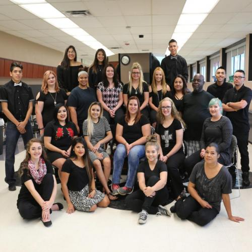 Cosmetology & Barber students, Fall 2017